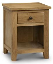 Marlborough Oak 1 Drawer Bedside Chest